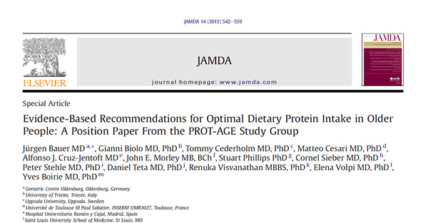 Evidence-Based Recommendations for Optimal Dietary Protein Intake in Older People