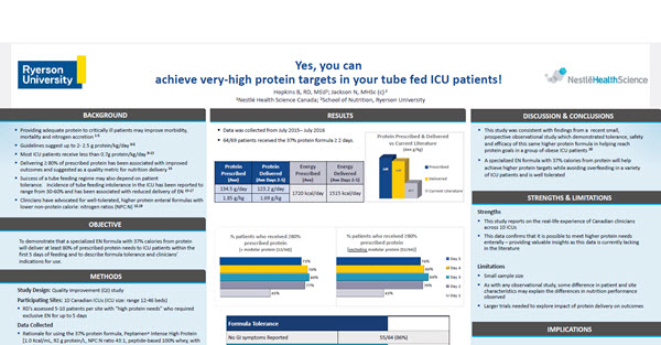 Yes, you can achieve very-high protein targets in your tube fed ICU patients! (Study Summary)