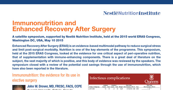 Immunonutrition and Enhanced Recovery After Surgery