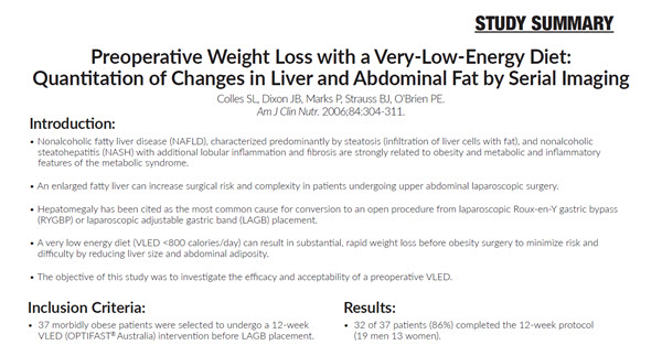 Preoperative Weight Loss with a Very-Low-Energy Diet