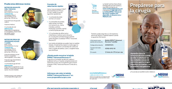 IMPACT Advanced Recovery® Patient Brochure (Spanish)