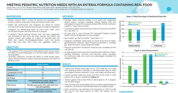 Meeting Pediatric Nutrition Needs with An Enteral Formula Containing Real Food