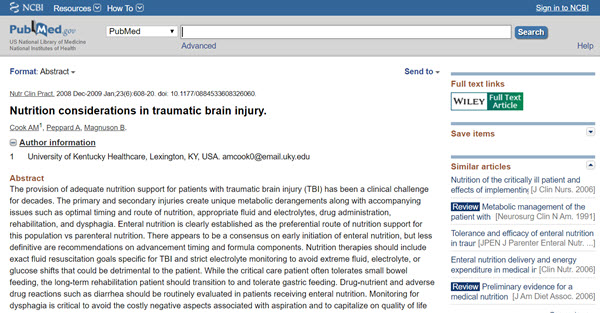 Nutrition considerations in traumatic brain injury