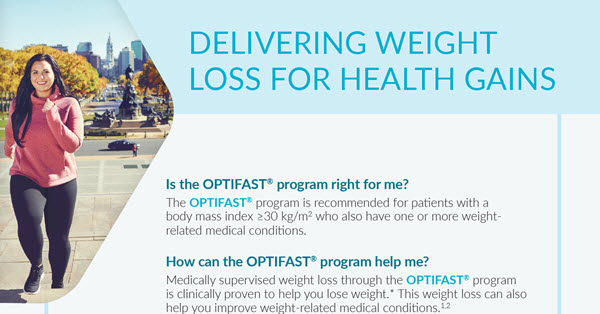 OPTIFAST Delivering Weight Loss for Healthy Gains