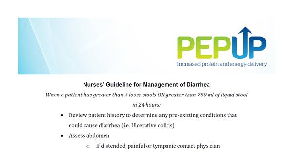 PEP UP Nurses' Guideline for Management of Diarrhea