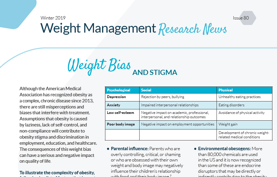 Weight Management Research News