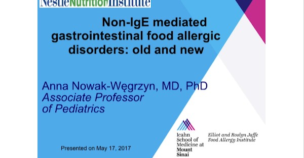 Non-IgE Mediated Gastrointestinal Food Allergic Disorders Old and New
