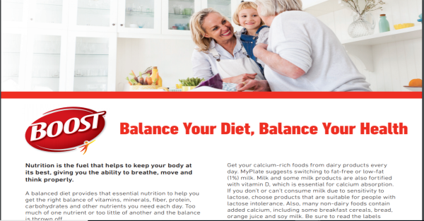 Balance Your Diet, Balance Your Health