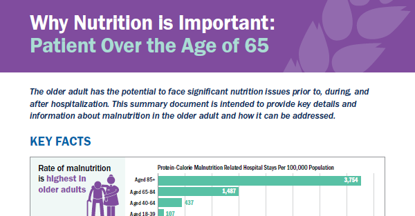 Patients Over the Age of 65 - Malnutrition Facts and Key Actions for Clinicians
