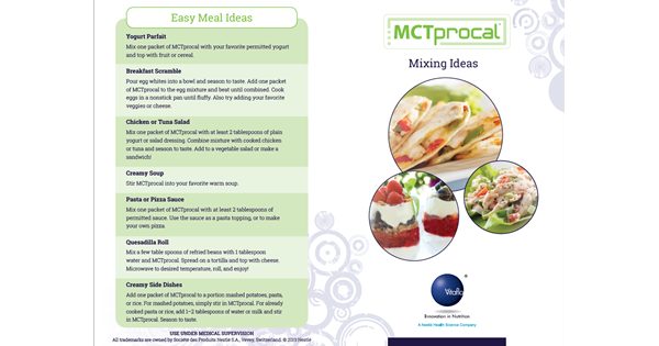 MCTprocal Recipe Guide