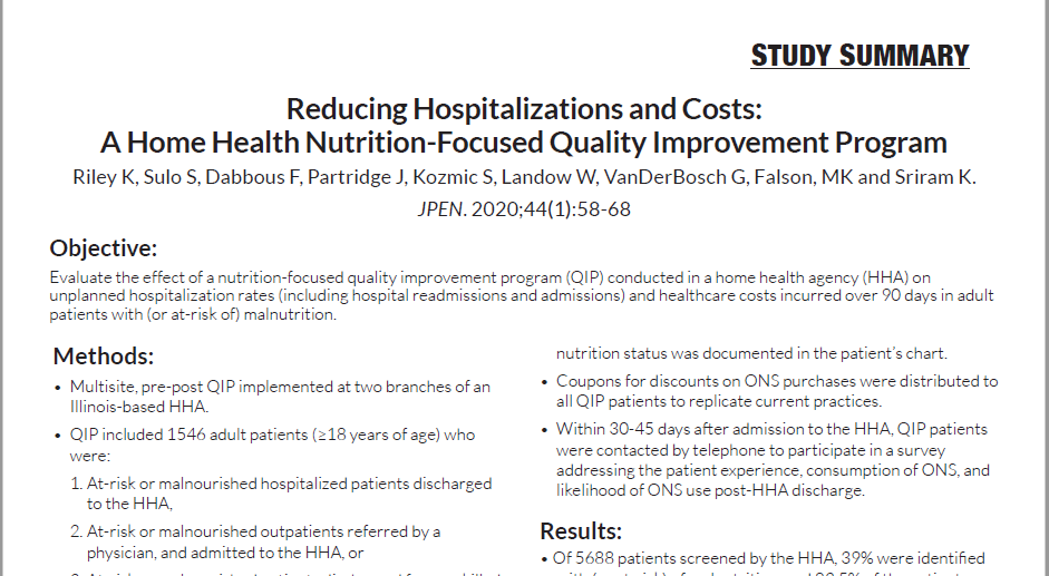 Reducing Hospitalizations and Costs