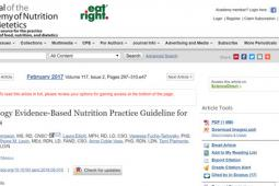 Oncology Evidence-Based Nutrition Practice Guideline for Adults, by Academy of Nutrition and Dietetics